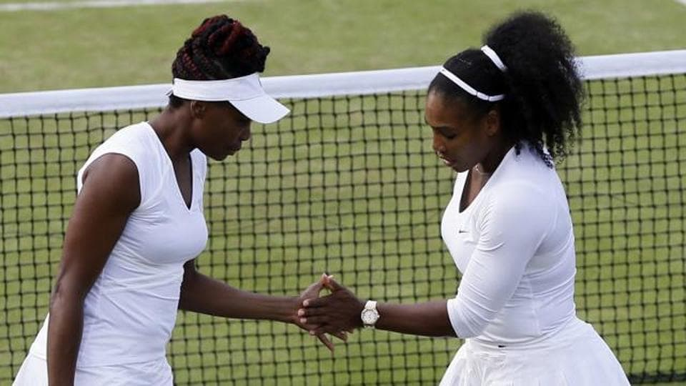 Venus Williams is eyeing her sixth Wimbledon singles crown. Her sister Serena (right) is the defending champion.