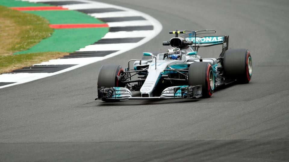 Mercedes' Valtteri Bottas topped both of Friday's free practice sessions at Silverstone.