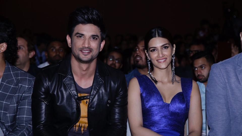 Sushant Singh Rajput and Kriti Sanon spotted together during a press conference of IIFA. (IANS)