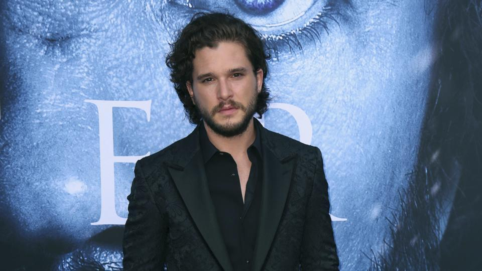 Kit Harington arrives at the LA Premiere of Game of Thrones at The Walt Disney Concert Hall on July 12.