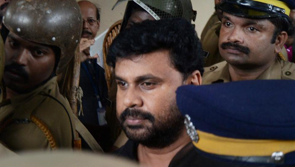 Police produce Malayalam actor Dileep in a court in Kochi on Wednesday.