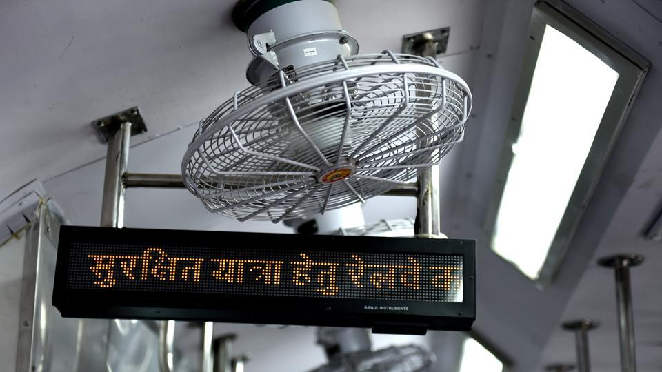 The move is expected to save Rs 2 lakh worth of diesel per coach, per annum. It will help in reducing carbon dioxide of almost nine tonnes per coach, per annum.  (Arvind Yadav/HT PHOTO)