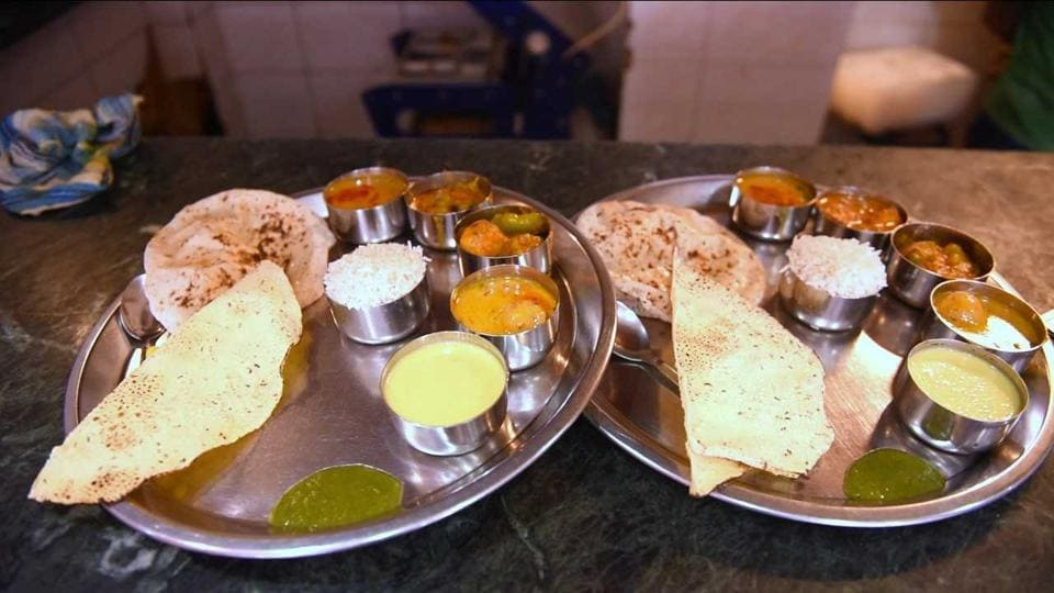 The dal, served in a bowl, is the crown of the thhali which comes with five little bowls.
