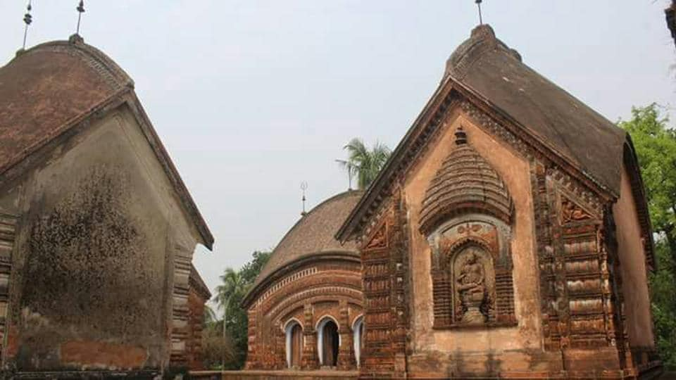 The famous Char Bangla temple at Baranagar in Murshidabad district  faces the risk of being washed away by the Bhagirathi river.
