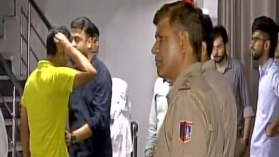 The couple were found hanging in a hotel room in Dwarka.