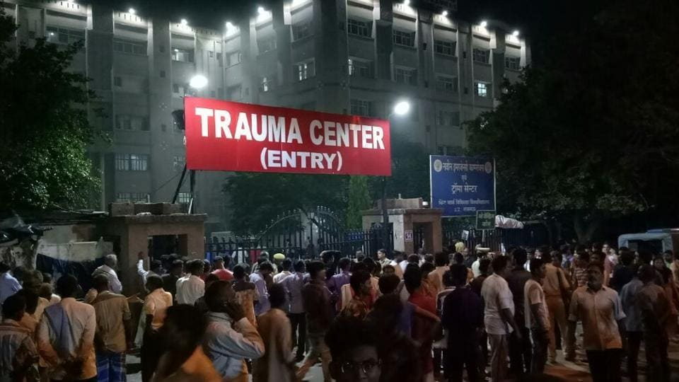 As it was night time, patients had great difficulty in moving out and they had no idea where to go or whom to contact.