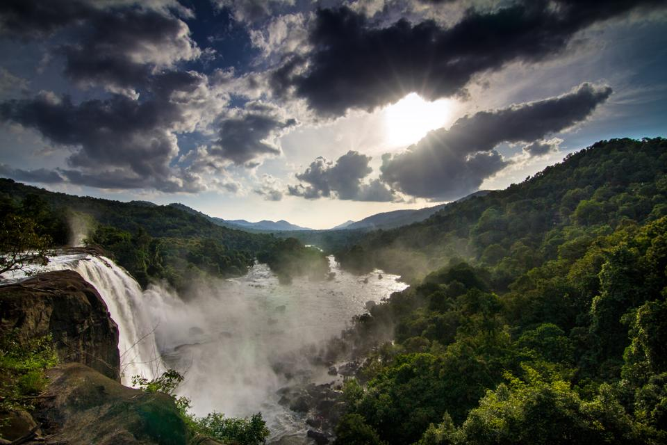 Athirapally Falls in Kerala, the spot where parts of the film Baahubali: The Beginning were shot