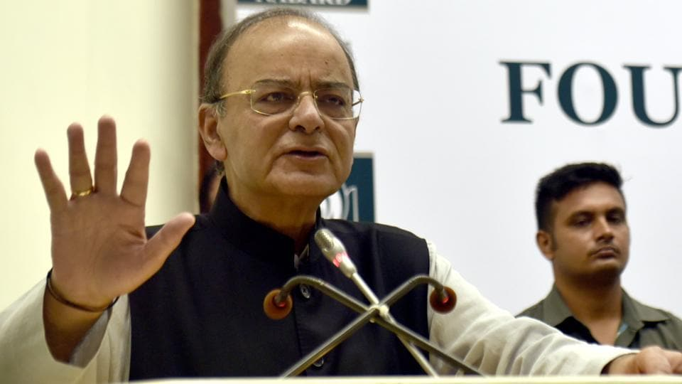 Finance minister Arun Jaitley at the 36th NABARD Foundation Day and Silver Jubilee of SHG Bank Linkage Programme.