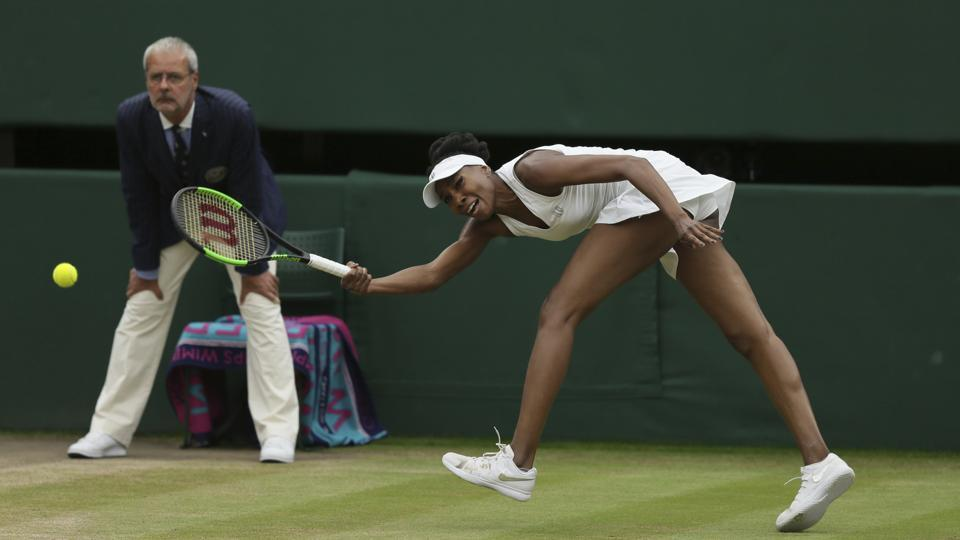 Venus Williams was not able to match the level of competitiveness in the second set. (AP)