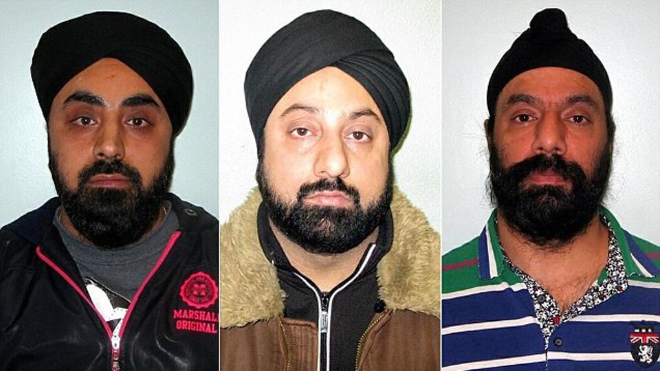 Daljit was jailed for seven years, Harmit for four-and-a half years and Chawla, a member of the same extended family, for seven-and-a-half years.