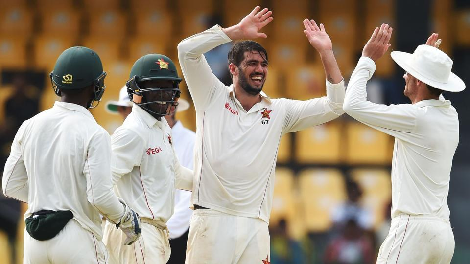 Graeme Cremer took three wickets as Sri Lanka stuttered to 293/7, still trailing Zimbabwe by 63 runs.