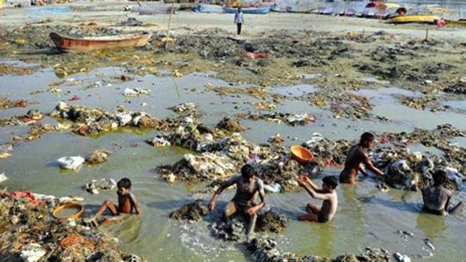 "Indicting the callous manner in which public money is being spent, the bench noted that ""even after spending Rs 7,304.64 crore up to March by the Centre, state government and local authorities of the state of UP"" the status of the Ganga has ""not improved in terms of quality or otherwise and it continues to be a serious environmental issue"" (AFP)"