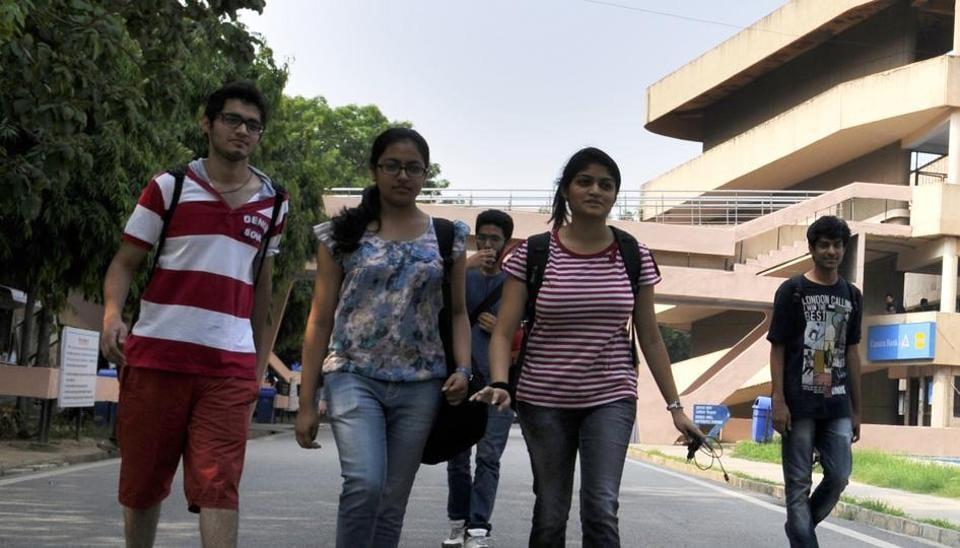 Students at IIT Delhi campus