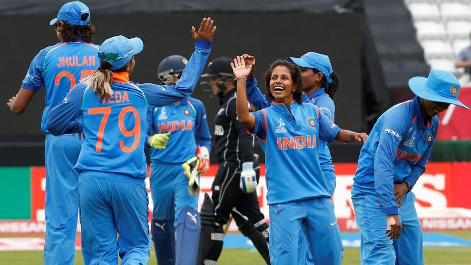 India hammered New Zealand  by 186 runs to reach the ICC Women's World Cup semis. (Action Images via Reuters)