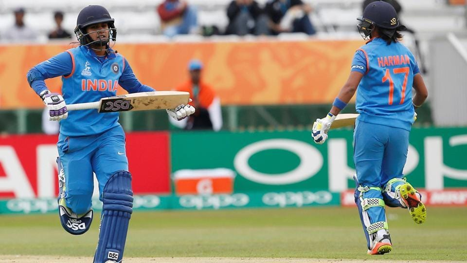 However, Mithali Raj (L) and Harmanpreet Kaur steadied India's innings after the early blows. (Action Images via Reuters)