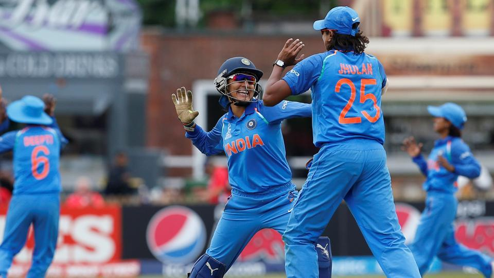 Wickets continued to tumble and the Kiwis were bowled out for 79, giving India a 186-run win. Rajeshwari Gayakwad picked five wickets for India. (Action Images via Reuters)