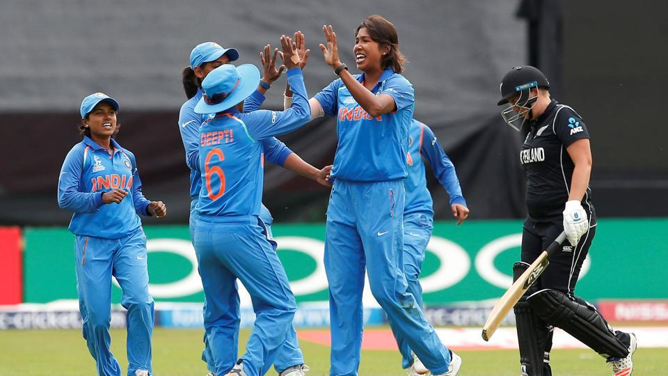 India defeated New Zealand by 186 runs to enter the ICC Women's World Cup semi-final. Get full cricket score of India vs New Zealand, ICC Women's World Cup, here.