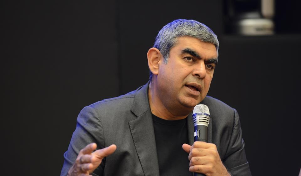 14 July 2017, Bangalore: Vishal Sikka CEO of Infosys, at AGM in Bangalore.