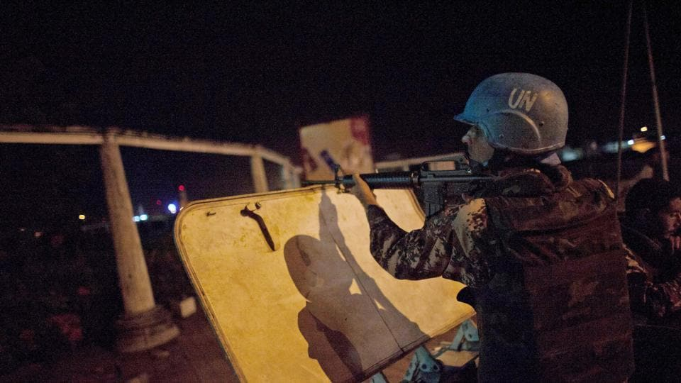 Representative Image | In this Monday, April 4, 2011, file photo, a U.N. peacekeeper from Jordan provides security at night on the streets of Abidjan, Ivory Coast.