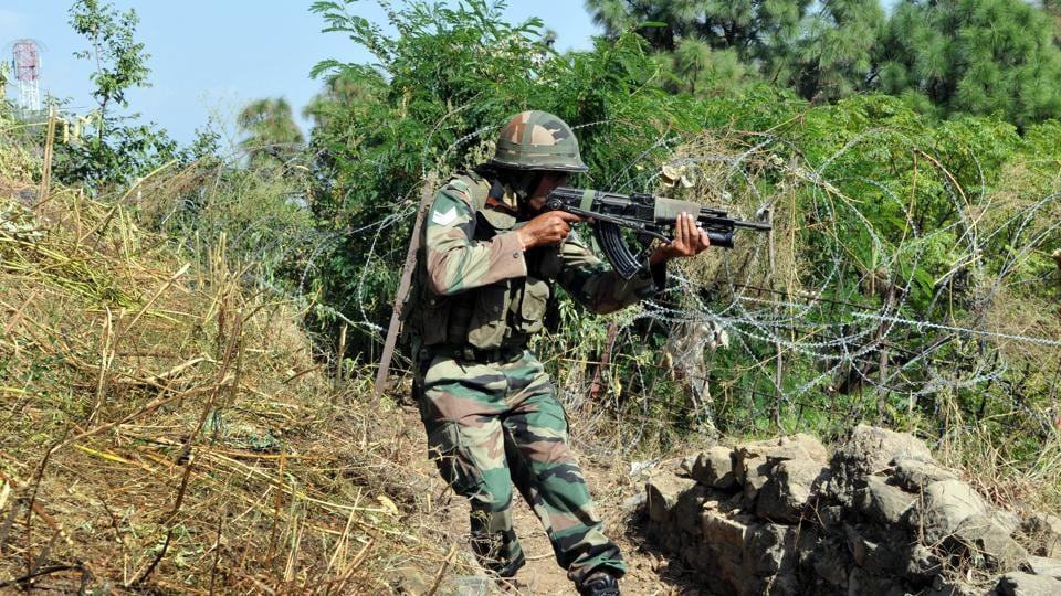 Representative Image | Indian army soldiers take position near the Line of Control in Nowshera sector, about 145 km from Jammu.