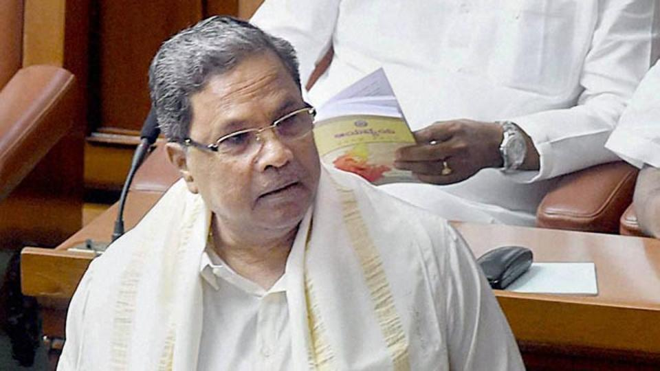 File photo of Karnataka chief minister Siddaramaiah.
