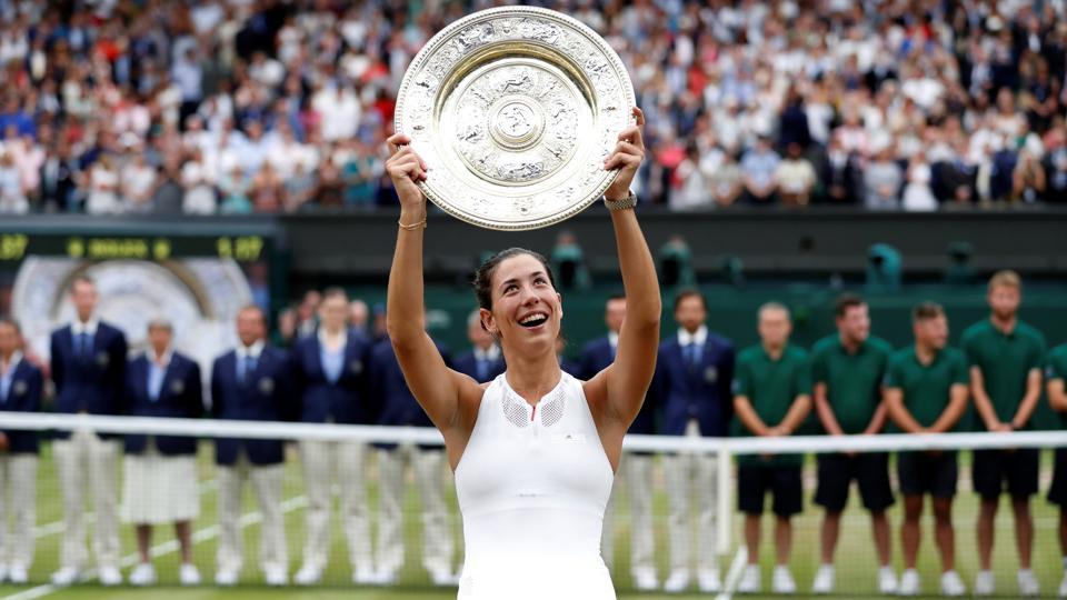 This is Garbine Muguruza's second Grand Slam title after also winning the 2016 French Open. (REUTERS)