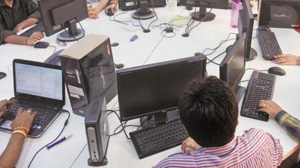 Statistics show that jobs in IT, once India's most dynamic service sector, are drying up.