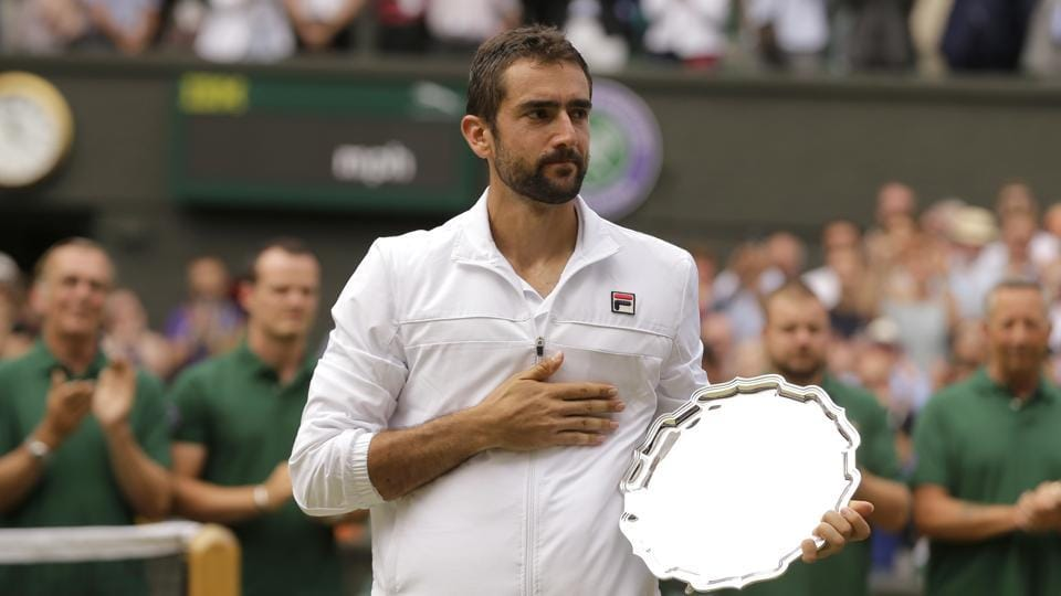 Marin Cilic lost 3-6, 1-6, 4-6 to Roger Federer in the Wimbledon final on Sunday.