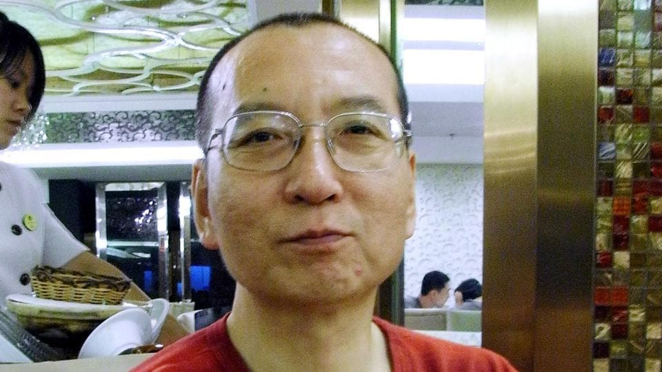 Chinese dissident Liu Xiaobo during an interview in Beijing on July 30, 2008.