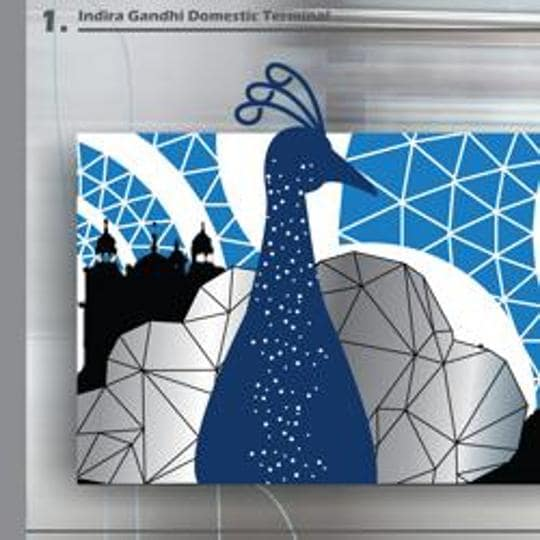 Artwork to be used at Delhi metro stations.