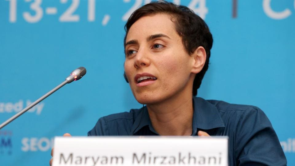 Iranian- born Maryam Mirzakhani, a Harvard educated mathematician and professor at Stanford University in California, during a press conference after the awards ceremony for the Fields Medals at the International Congress of Mathematicians 2014 in Seoul on August 13, 2014.