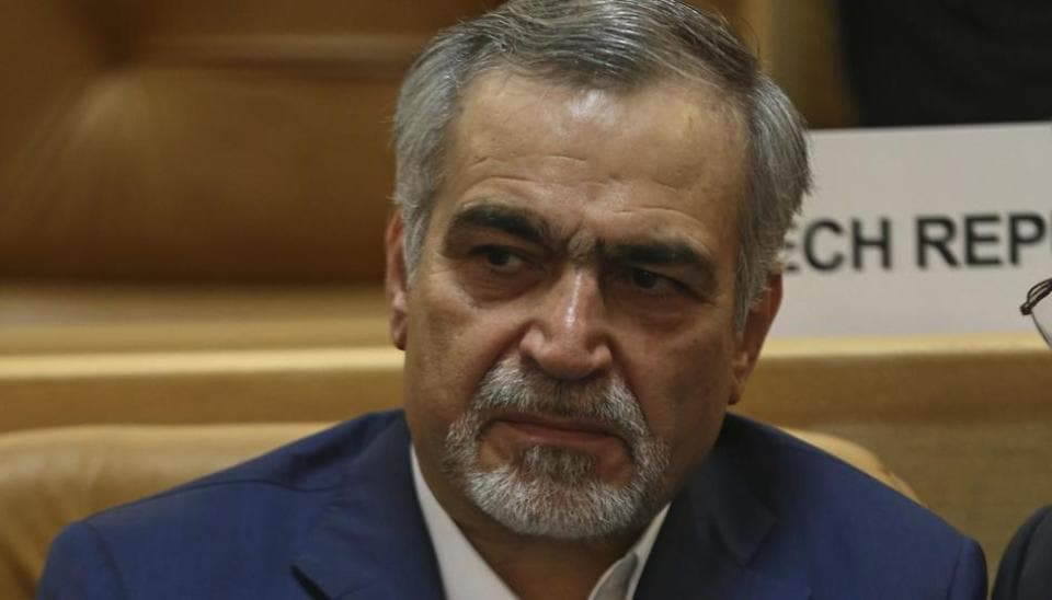 Hossein Fereidoun, brother and top aide of Iranian President Hassan Rouhani, in Tehran on July 3, 2017.