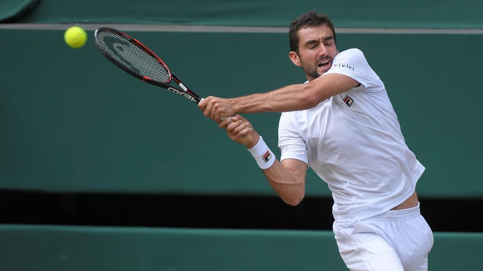 Marin Cilic started the game strongly, holding serve and making Federer work hard.   (REUTERS)