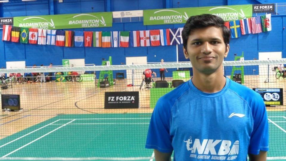 Sukant Kadam trains with Olympian Nikhil Kanetkar at the Nikhil Kanetkar Badminton Academy (NKBA) in Balewadi.
