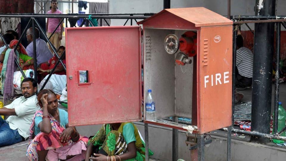 Trauma center blaze,KGMU,Fire alarm