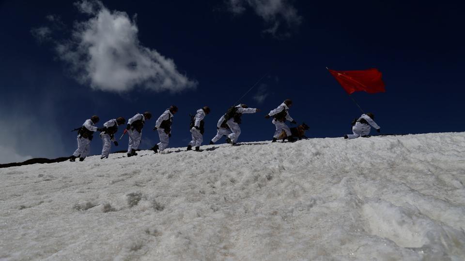 Chinese Army,Tibet plateau,Doklam