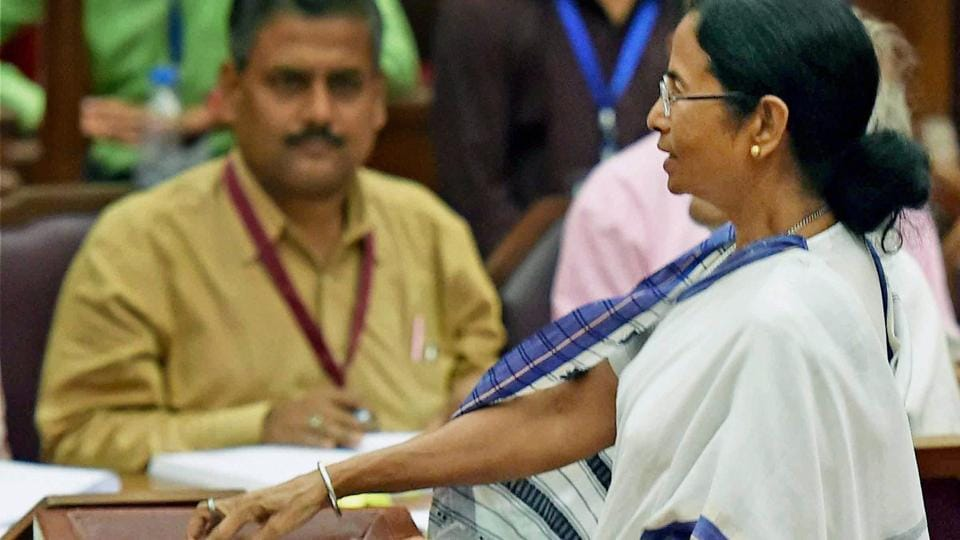 West Bengal Chief Minister Mamata Banerjee casts her vote during Presidential election 2017 at West Bengal Legislative Assembly in Kolkata on July 17, 2017.