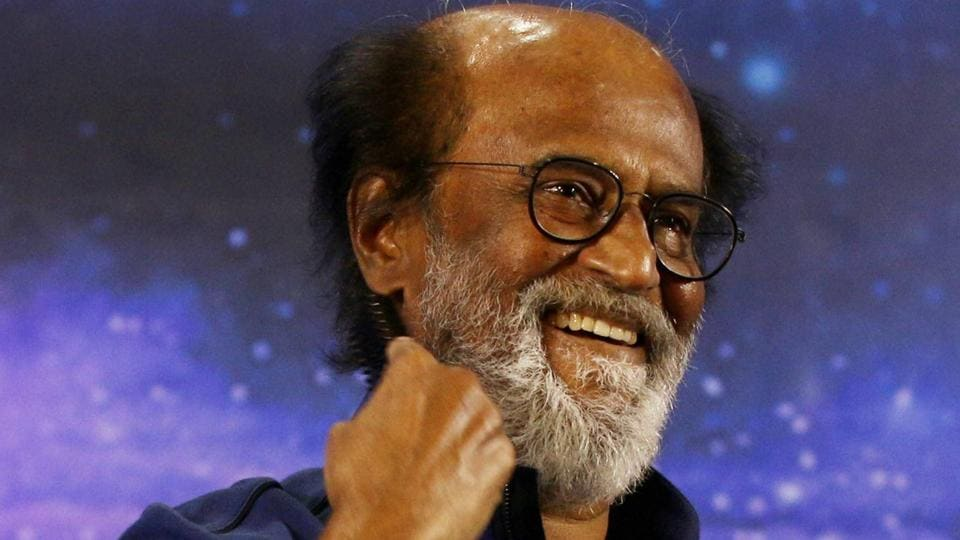 In this file photo, Tamil superstar Rajinikanth can be seen addressing fans in Chennai. The actor has given a strong hint of joining politics.