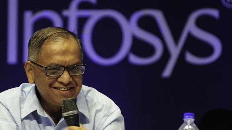 Infosys co-founder NRNarayana Murthy addresses at the 32nd Annual General Meeting in Bengaluru.