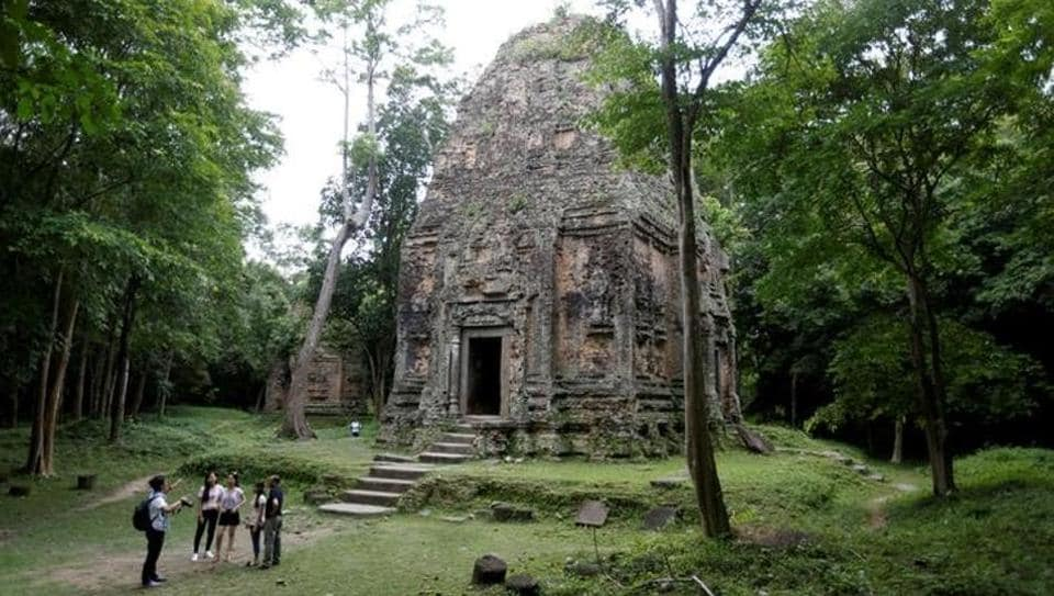 Tourists visit Sambor Prei Kuk, which is home to numerous temples.