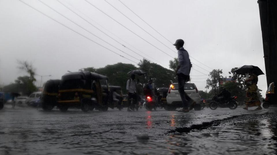 Waterlogging was reported in parts of Mumbai, Thane and Navi Mumbai.