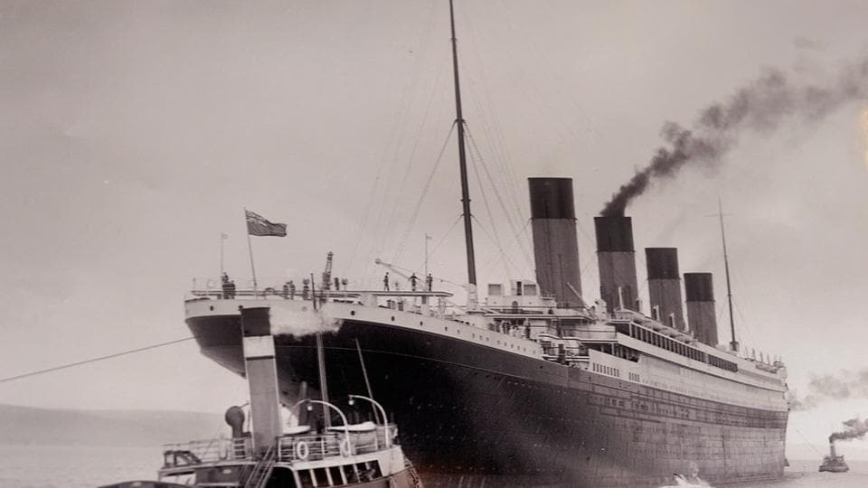 A documental picture of the Titanic, which sank after hitting an iceberg in April 1912.