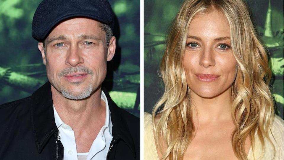 Brad Pitt and Sienna Miller at the premiere of The Lost City of Z.