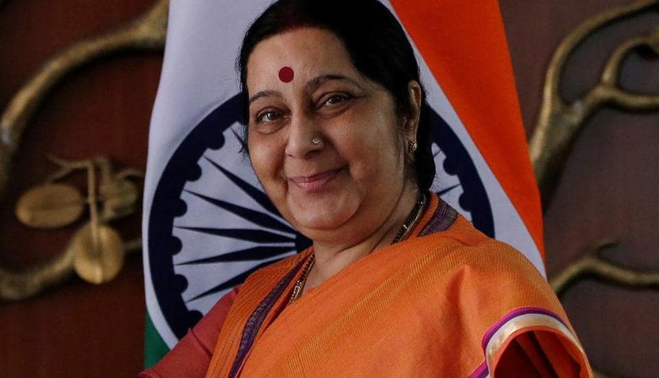 Foreign minister Sushma Swaraj's tweet comes amid heightened tension between the neighbours, especially over rising militancy and civilian protests in Kashmir which India says are orchestrated by Pakistan.