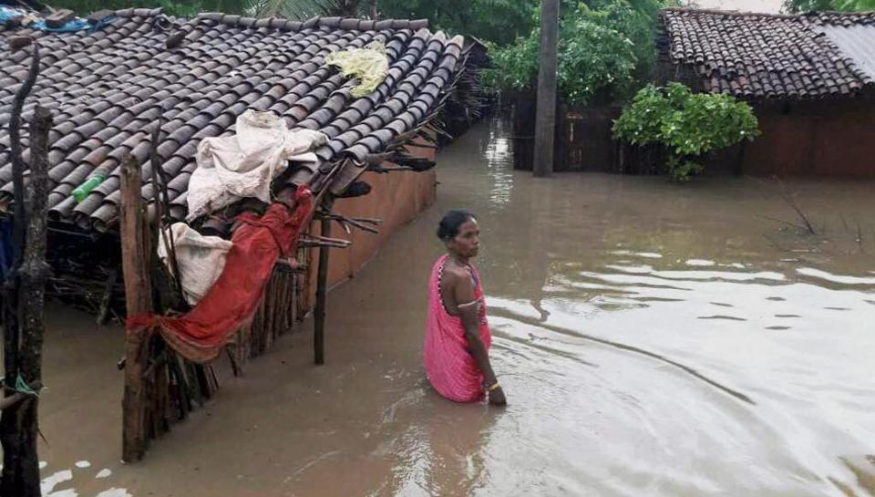 Odisha is staring at a major flood after heavy rainfall  in Kalahandi and Rayagada districts flooded most parts of the two districts with one person dying in a landslide. (PTI)