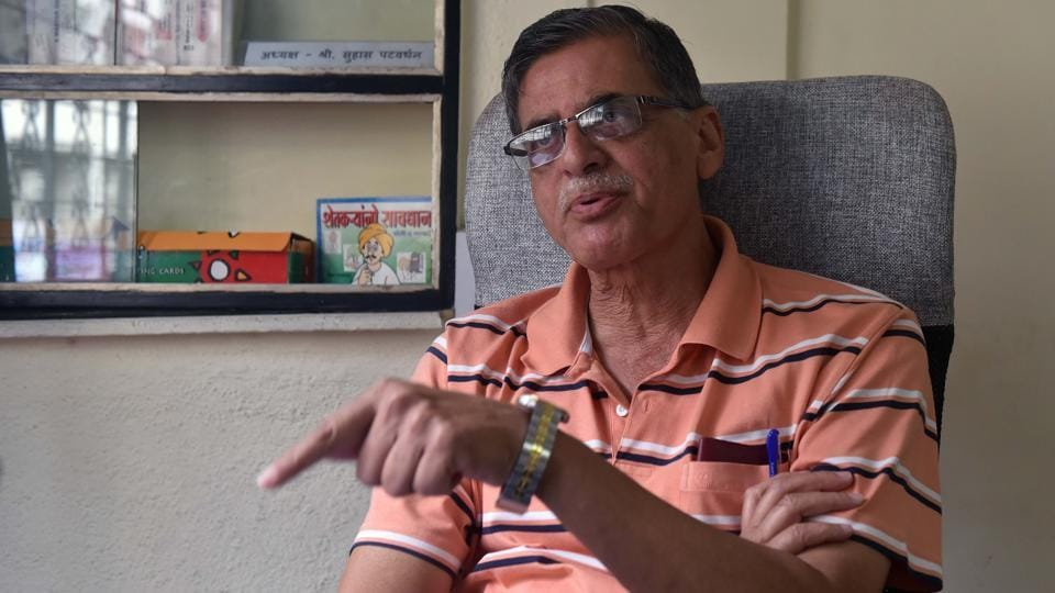 Suhas Patwardhan, president of Pune housing societies federation at his office in Pune on Monday.