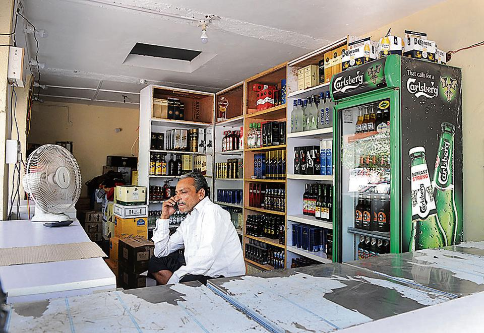 One of the liquor stores where the excise conducted the measurement drive.