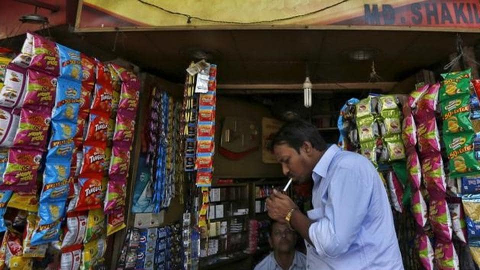 Cigarette cess,Indian shares fall,BSE