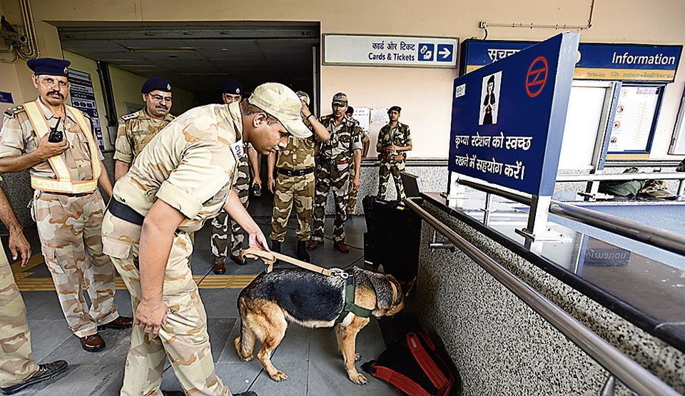 Guru Dronacharya metro station,Delhi metro,Delhi metro mock drill