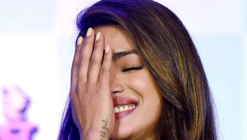 Priyanka Chopra during a promotional event of her Marathi production Kay Re Rascalaa in Mumbai.
